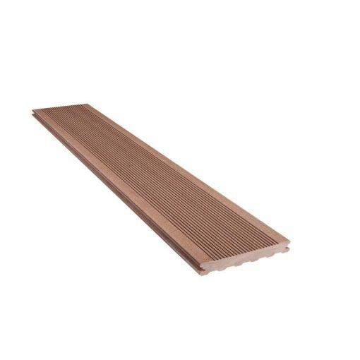 Holzverbund Terrassendielen Eleganz R 23 x 138/180 mm Dunkelbraun