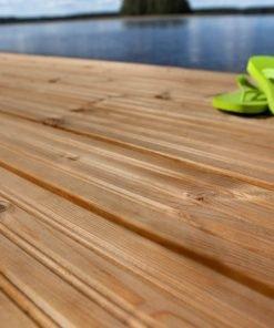 Imprägnierte Holz